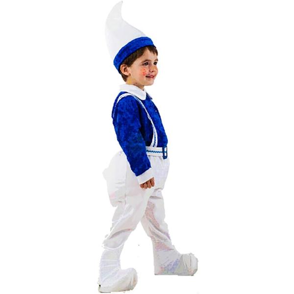 Disfraz de Gnomo azul 3 a 4 años para niño