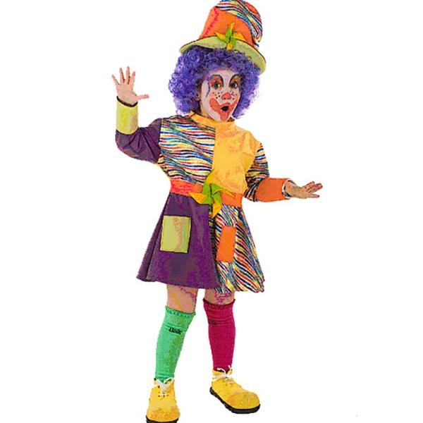Disfraz de Payasa 1 a 2 años para niña