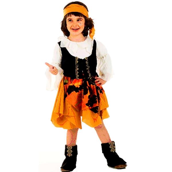 Disfraz de Pirata malvada 3 a 4 años para niña