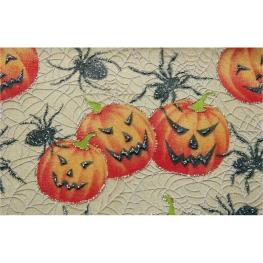Tela halloween con calabazas