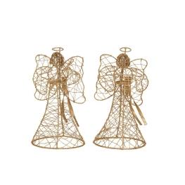 Ángel con instrumento musical oro