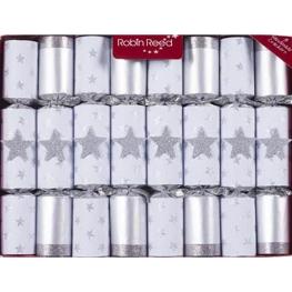 Cracker estrela mágica plata 8 udes. 25 cm juegos de magia