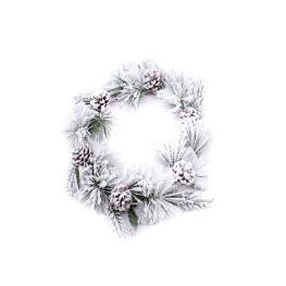 Corona de navidad piñas 24cm