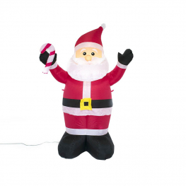 Hinchable santa claus 1 led 120cm