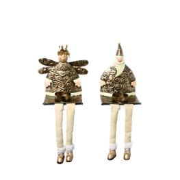 Rey-Papá Noel  tee-light 30 cm. 1 ud. (2 modelos)