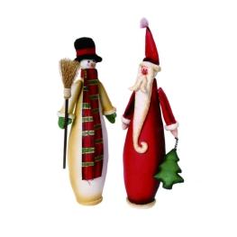 Santa Claus-muñeco de nieve