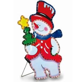 Muñeco de nieve interior-exterior