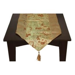 Camino de mesa oro de tela
