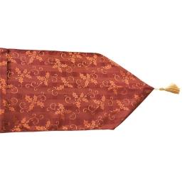 Camino de mesa burdeos acebo de tela