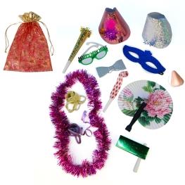 Bolsa cotillón nº 5 organza roja (confeccionada)