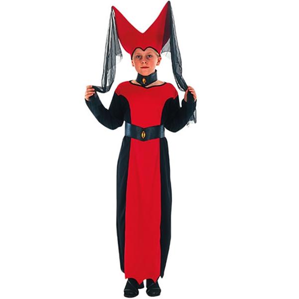 Disfraz de Reina Medieval 10 a 12 años para niña