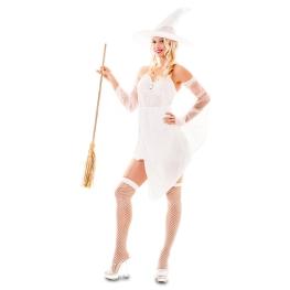 Disfraz de Bruja blanca Talla ML para mujer