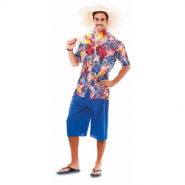 Disfraz de Hawaiano Talla ML para hombre