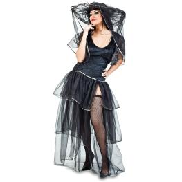 Disfraz de Viuda alegre Talla ML para mujer