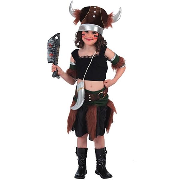 Disfraz de Vikinga 10 a 12 años para niña