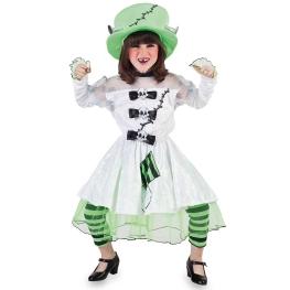 Disfraz de Novia Frankenstein para niña