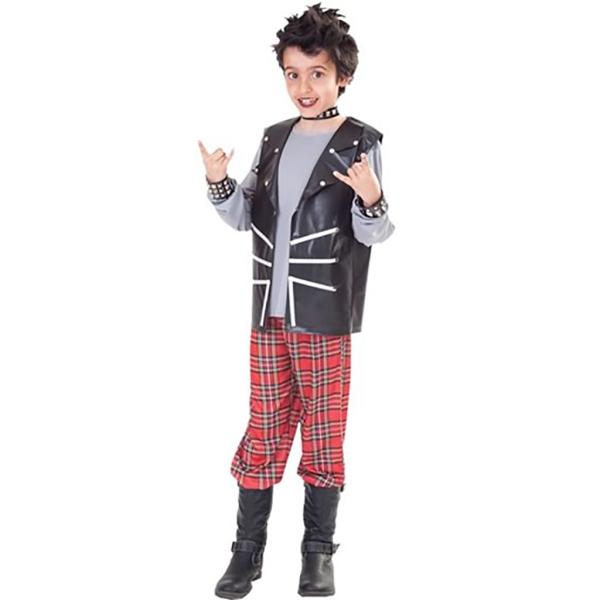 Disfraz de Niño Punk  T-2