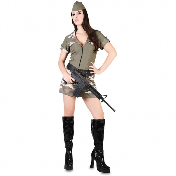 Disfraz de Militar Talla ML para mujer