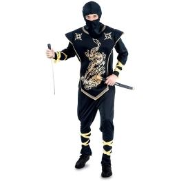 Disfraz de Ninja dorado para Hombre Talla única