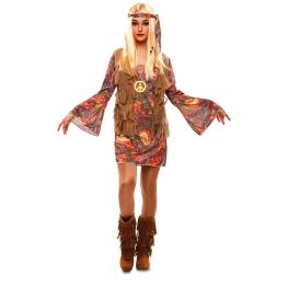Disfraz de Hippie para Mujer Talla única