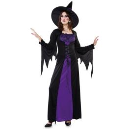 Disfraz de Bruja púrpura para Mujer