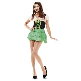Disfraz de Duende verde Talla ML para mujer