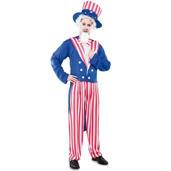 Disfraz de Tío Sam para Hombre Talla única