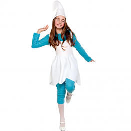 Disfraz de Gnomo azul para niña