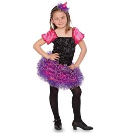 Disfraz de Brujita lila para niña