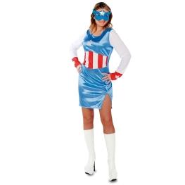 Disfraz de Capitana azul Talla ML para mujer