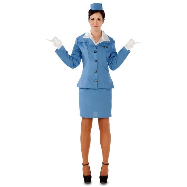 Disfraz de Azafata Talla ML para mujer