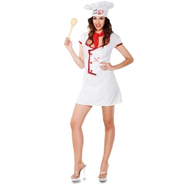 Disfraz de Cocinera Talla ML para mujer