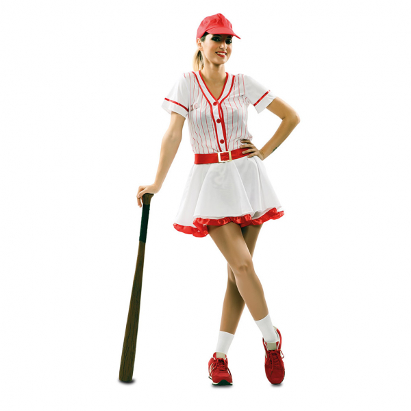 Disfraz de Béisbol para Mujer Talla Única