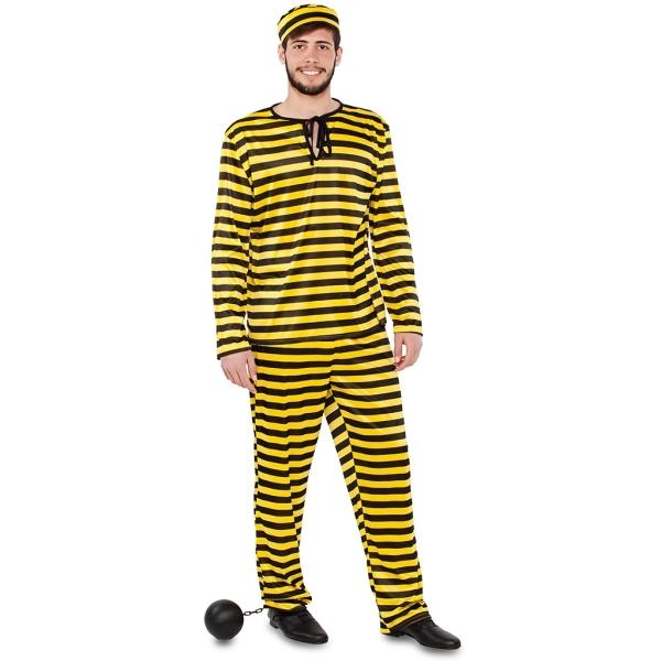 Disfraz de Preso amarillo Talla ML para hombre