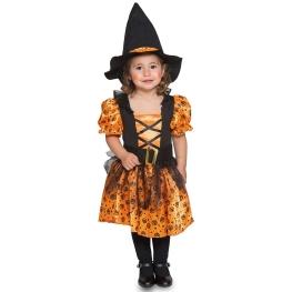 Disfraz de Bruja naranja para bebé y niña