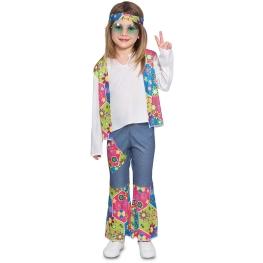 Disfraz de Hippie para bebé y niña