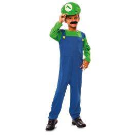 Disfraz de Fontanero verde para niño