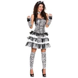 Disfraz de Cebra sexy Talla ML para mujer