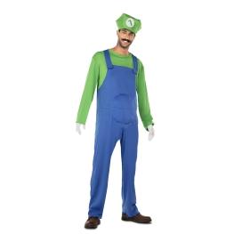 Disfraz de Fontanero verde para Hombre Talla única