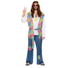 Disfraz de Hippie Talla ML para hombre