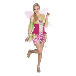 Disfraz de Ninfa rosa Talla ML para mujer