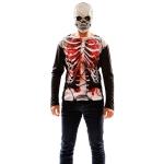 Disfraz de Camisa esqueleto zombi para Hombre