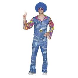 Disfraz de Hippie vaquero Talla ML para hombre
