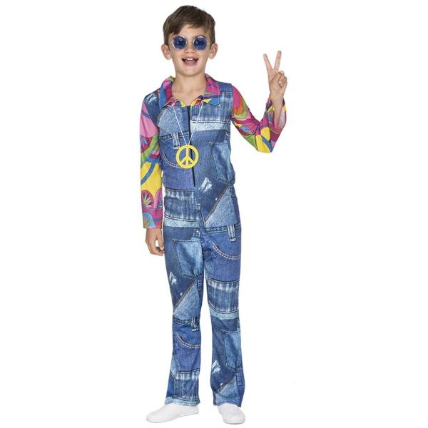Disfraz de Hippie Vaquero 10 a 12 años para niño