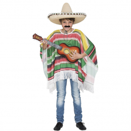 Disfraz de Poncho mejicano infantil