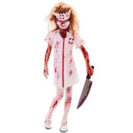 Disfraz de Enfermera zombie para Niña