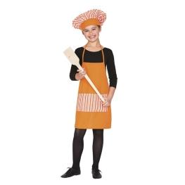 Disfraz Set cocina delantal y gorro  Talla única