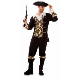 Disfraz de Pirata dorado Talla ML para hombre
