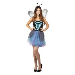 Disfraz de Hada mariposa azul para Mujer