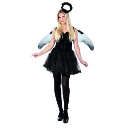 Disfraz de Ángel negro Talla ML para mujer